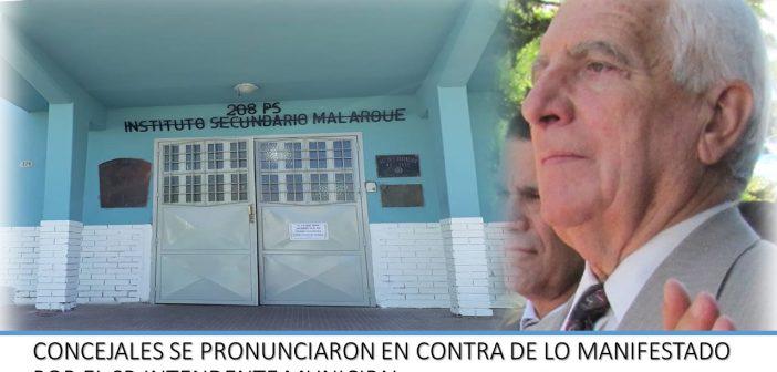 EL CONCEJO DELIBERANTE REPUDIÓ LAS DECLARACIONES DEL SR. INTENDENTE MUNICIPAL DN. JORGE VERGARA MARTÍNEZ