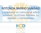 COLOCACIÓN DE CARTELES  DE SEÑALIZACIÓN EN ROTONDA DEL BARRIO SANIDAD.