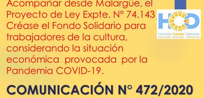 COMUNICACIÓN N° 472/2.020