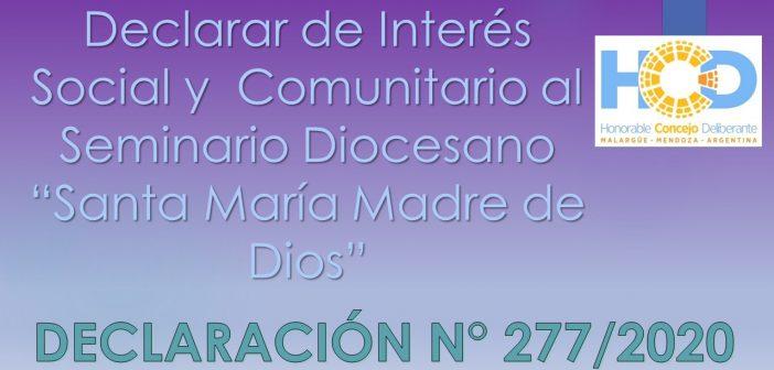 DECLARACIÓN N° 277/2.020