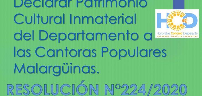 RESOLUCIÓN N° 224/2.020