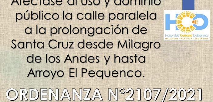 ORDENANZA N° 2.107/2.021