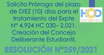 RESOLUCIÓN N° 259/2.021